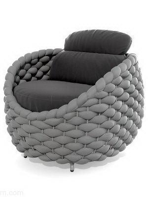 Plastic Armchair 3D Model