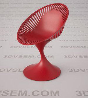 Plastic Bar Chair 3D Model