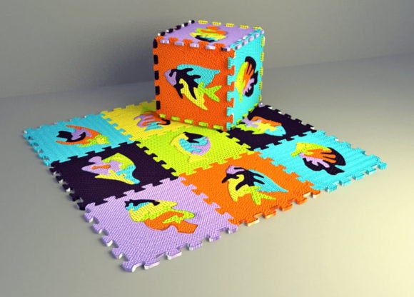 Plastic Kids Carpet 3D Model