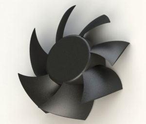 Plastic PC Fan 3D Model