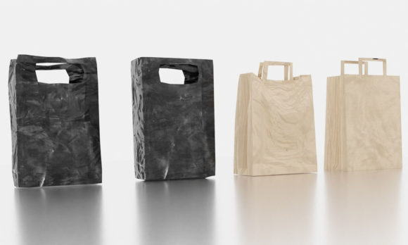 Plastic Papers Bags 3D Model