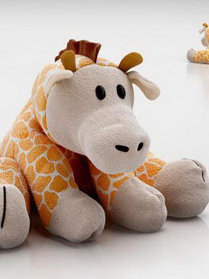 Plush Giraffe Toy 3D Model