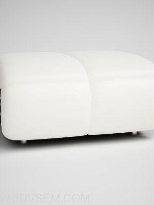 Puff Bench 3D Model