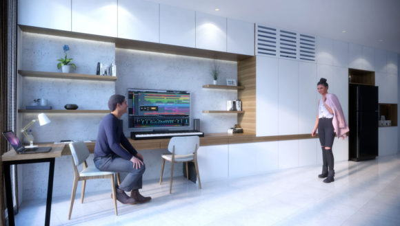 Realistic Apartment Work Room 3D Model