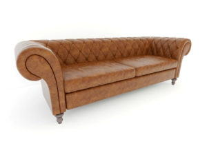 Realistic Leather Chesterfield 3D Model