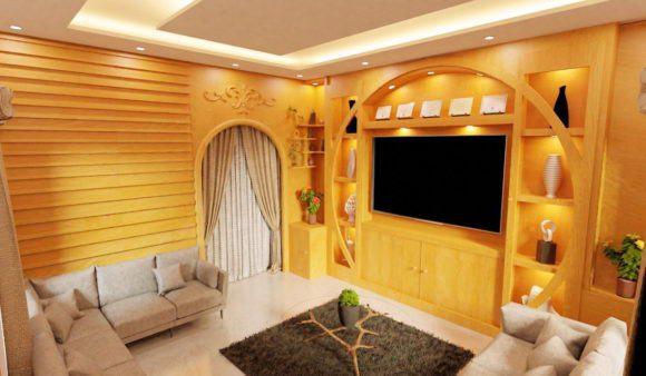 Realistic Living room interior Scene Design 3D Model