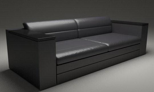Realistic Sofa 3D Model - Free C4D Models
