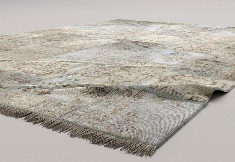 Realistic Vintage Carpet 3D Model Vray