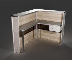 Reception Desk Free 3D Model