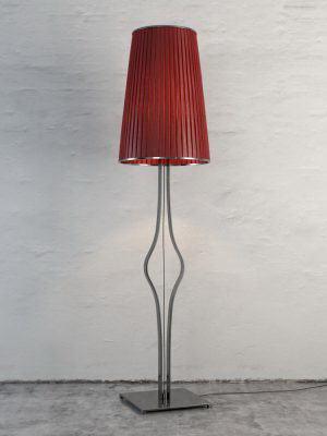 Red Shade Floor Light 3D Model