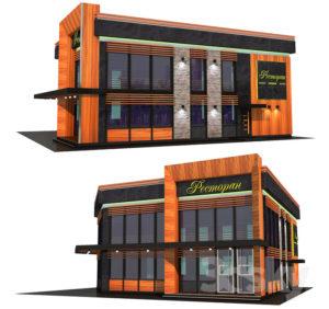 Restaurant Building Free 3D Model