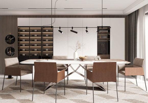 Restaurant Interior Scene 3D Model