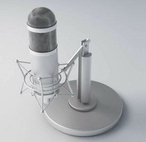 Retro Recording Microphone 3D Model