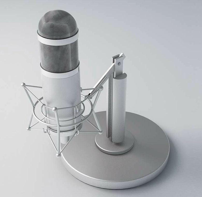 Retro Recording Microphone 3d Model Free C4d Models