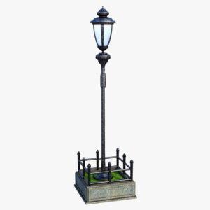 Retro Street Lamp Free 3D Model