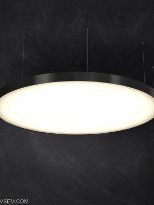 Round Microprismatic Ceiling Light 3D Model