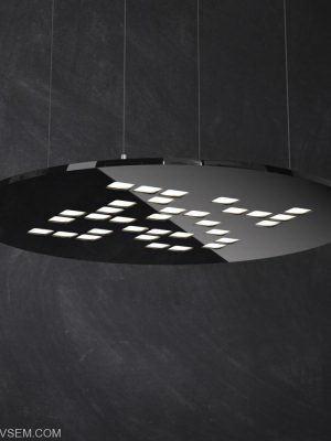 Round Mosaic Lamp 3D Model