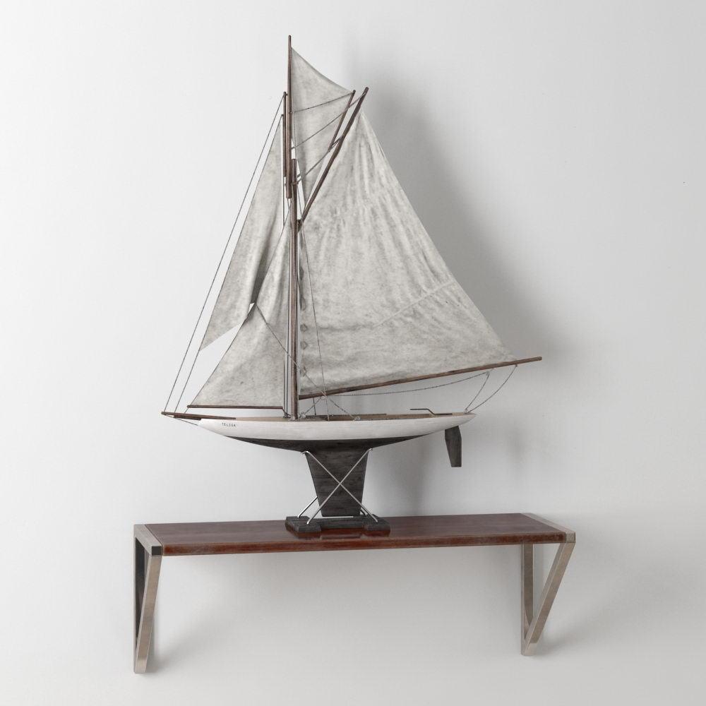 Sailboat Decoration Object 3D Model