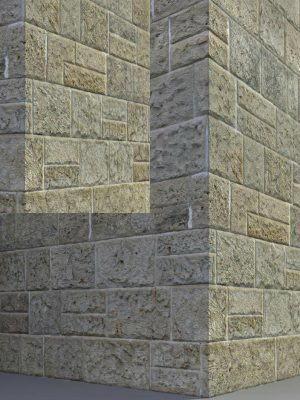 Sandstone Block Wall Texture