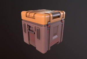 Sci-fi Game Container 3D Model