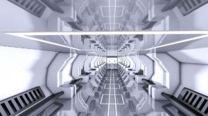 Sci-fi Tunnel 3D Model