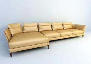 Sectional Sofa Free 3D Model