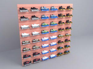 Shoes Racks 3D Model