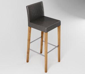 Simple Bar Stool 3D Model