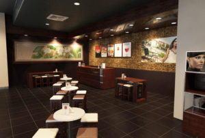 Simple Cafe Design 3D Interior Scene