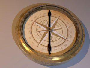 Simple Design Compass 3D Model