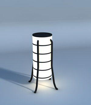 Simple Floor Lamp 3D Model