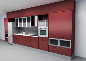 Simple Kitchen Design 3D Model