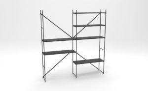 Simple Metal Shelf 3D Model