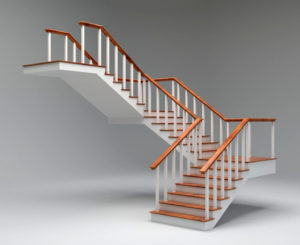 Simple Stair Free 3D Model