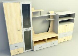 Simple Wood 3D Cabinet