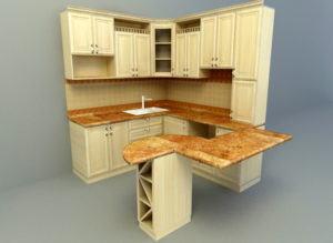Small Corner Kitchen 3D Model Download