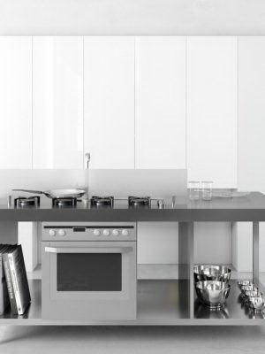 Small Kitchen Design 3D Model