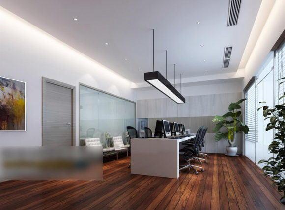 Small Open Office Free 3D Interior Scene
