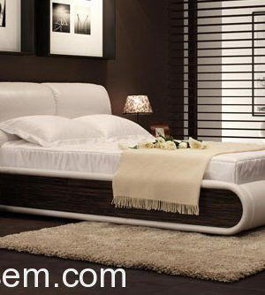 Soft Headboard Double Bed 3D Model