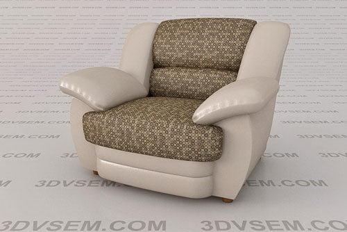 Soft Leather Armchair 3D Model