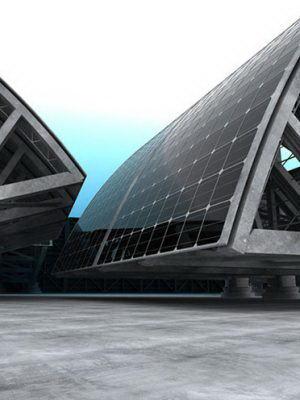 Free Solar Construction Exterior Scene