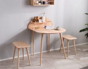 Solid Wood Table Set 3D Model