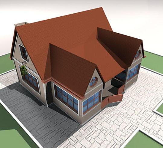 Southwest style home 3D Model