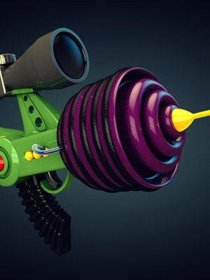 Space Gun Toy 3D Model