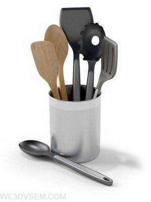 Spoons, Forks 3D Model