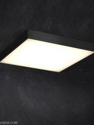 Square Ceiling Luminaire 3D Model
