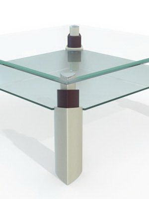 Square Glass Table 3D Model