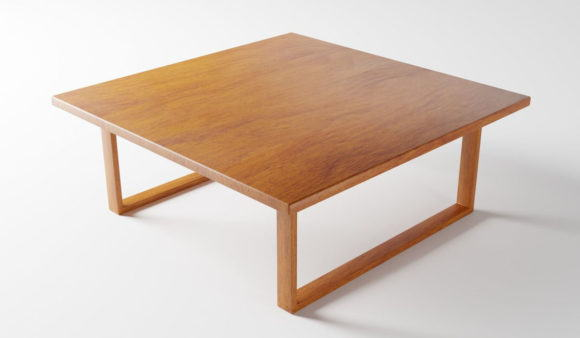 Square Wood Coffee Table 3D Model