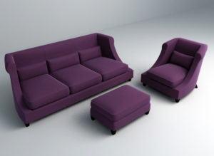 Standart Sofa Set 3D Model