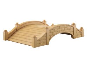 Stone Garden Bridge 3D Model